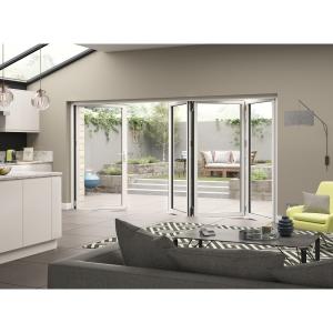 External Aluminium White Right Opening Bifold Door Set 3590mm wide