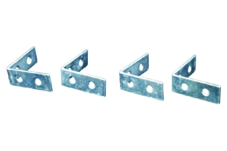 4Trade Corner Braces Zinc Plated Pack of 4 50mm