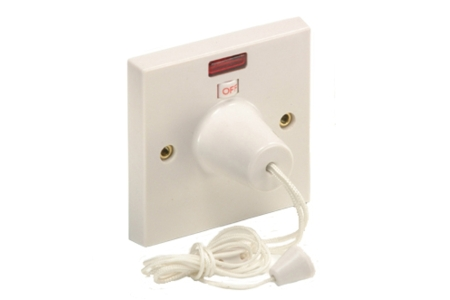 4Trade Ceiling Switch 45 Amp 1 Way Neon Double Pole