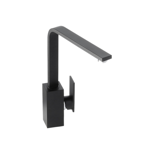 Abode New Media Single Lever Tap Matt Black
