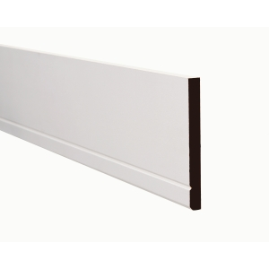 MDF Architrave Square / Bevelled with V Groove White Painted 18 x 69mm 2.44m