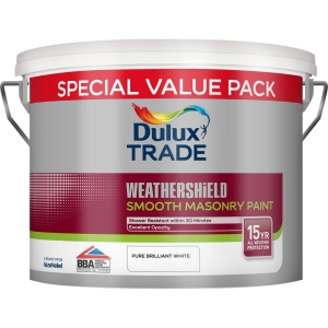 Dulux Trade Weathershield Smooth Masonry Pure Brilliant White 7.5L