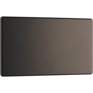 Bg Screwless Flat Plate Black Nickel Blank Plate 2 Gang