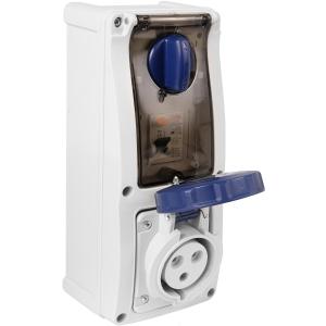 Famatel Uk Ltd Industrial RCD Socket IP67 240V 32A 30mA 2P+E Switched