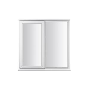 JELD-WEN Stormsure White Timber Window 2 Panel Left Opening 1195 x 1195mm