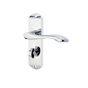 Frelan Hardware Jedo JV922PC Broadway Bathroom Lever Handle Set Polished Chrome