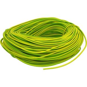 PVC Earth Sleeving 100m 3mm Green / Yellow