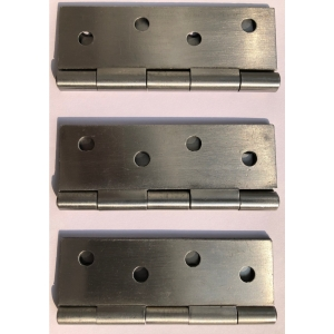 4Trade Butt Hinges Fixed Pin 100mm Self Colour Pack of 2