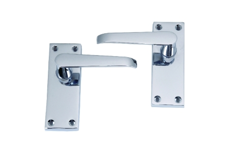 4trade Victorian Lever Latch Handle Chrome