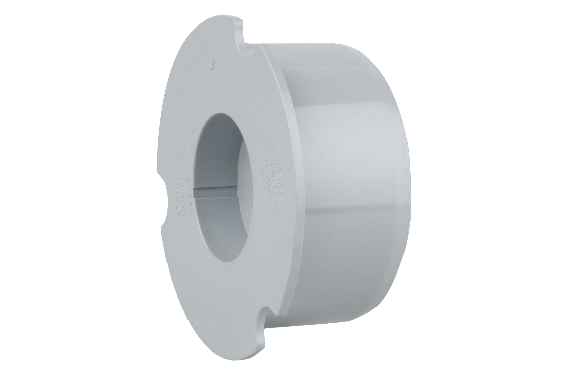 OsmaSoil 4S296G 110mm Plain Ended Socket Plug Grey