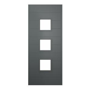 Malmo Ultimate External Front Grey Hardwood Veneer Door