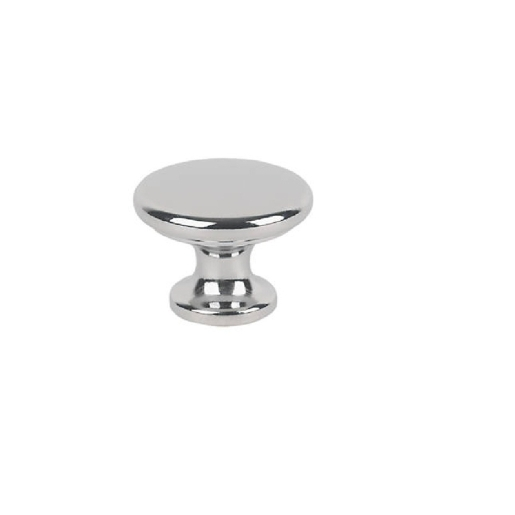 4Trade Classic Knob Chrome 38mm Pack of 2