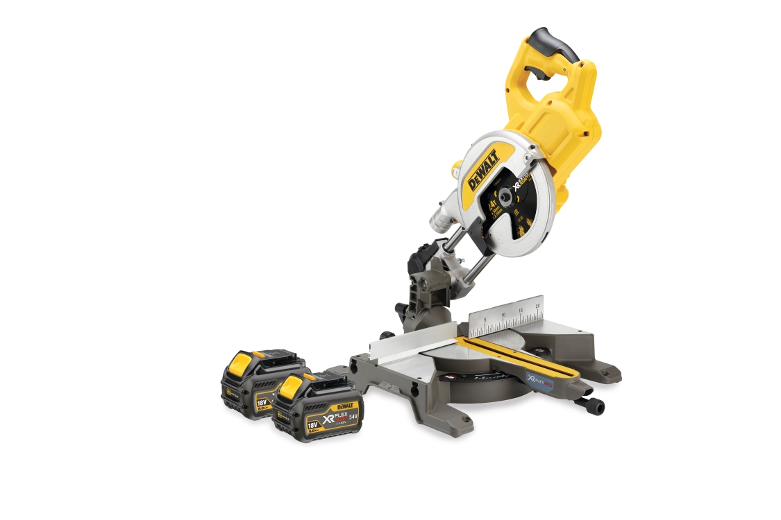 DeWalt DCS777T2 Mitre Saw Xr Flexvolt 54V Cordless 216mm (2 x 6.0AH Batteries)