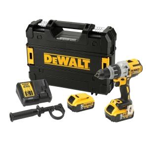 DeWalt XR 18V Cordless Brushless 3 Speed Combi Drill 2 X 5Ah  Li-Ion Batteries DCD996P2