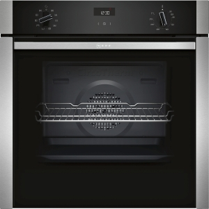 NEFF Fixed Slide&hide Single Multifunction Oven with Circotherm Stainless Steel B3ACE4HN0B