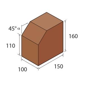 Marshalls Keykerb Medium Splay Charcoal 45 Degree Angle - Pack of 280