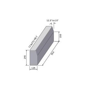 Marshalls British Standard Half Battered Concrete Kerb 125mm x 255mm x 915mm - Pack of 16