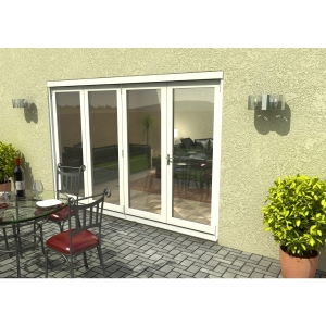 Travis Perkins 54mm White External Sliding Folding 3000mm Door Set
