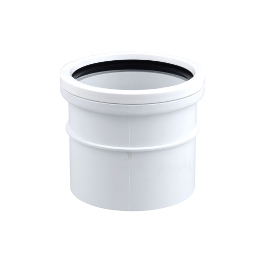 Osmasoil 110mm System White Single Socket 4S124W