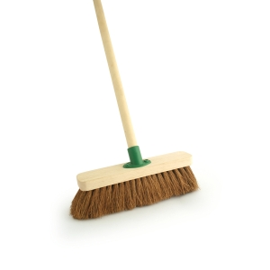 4Trade Coco Broom with Collar and Handle 305mm