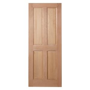 Custom Size 4 Panel Internal Oak Veneer Hardwood Core Maximum Size 2150 x 950 x 35mm