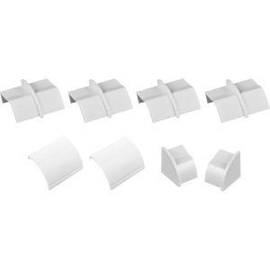 """D-LINE CLIP-OVER Accesory Pack Including 4 x COUPLER, 2 x INLET/OUTLET & 2 x End Cap 1 x LEFT, 1 x Right White 22 x 22mm"""""""