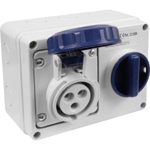 Famatel Uk Ltd Industrial Socket IP67 240V 16A 2P+E Switched