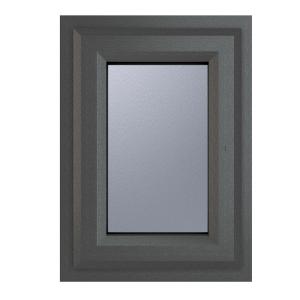 Crystal Grey Upvc Casement Obscure Window 2P Top Opening 440 mm x 610 mm