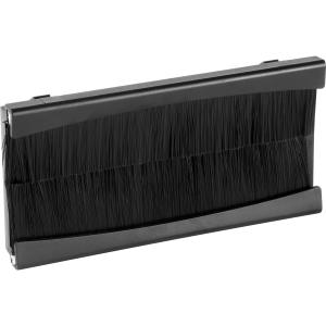 Euro Module Brush Module Black 4 Mod Twin Plate
