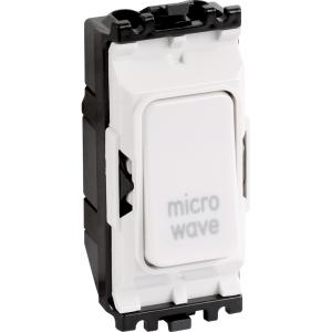 MK Grid Plus 20A 1 Way Dp Engraved Modules Microwave