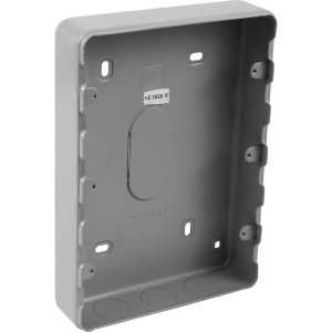 MK Grid Metal Surface Back Box 12 Gang
