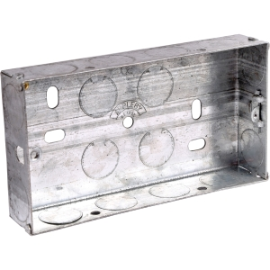 Appleby Metal Box 2 Gang 25mm Each