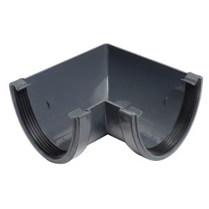 Osma Deepline Gutter Angle 90 Degree Anthracite Grey 113mm