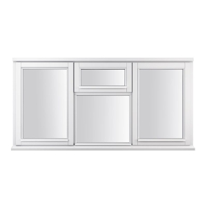 """JELD-WEN Stormsure White Timber Window 4 Panel Left, Right And Top Opening 1195 x 1765mm"""""""