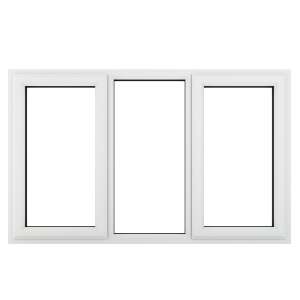 Crystal White Upvc Casement Clear Window 3P Left and Right Hand Opening 1770 mm x 965 mm