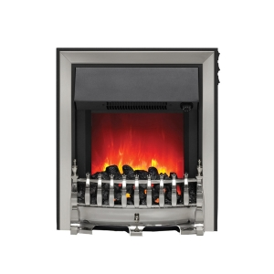 Be Modern Camberley Fazer Electric Fire  C/W Spacer Frame 32859 Chrome