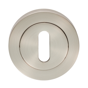 Carlisle Brass Escutcheon Lock Profile On Concealed Fix Round Rose Satin Nickel