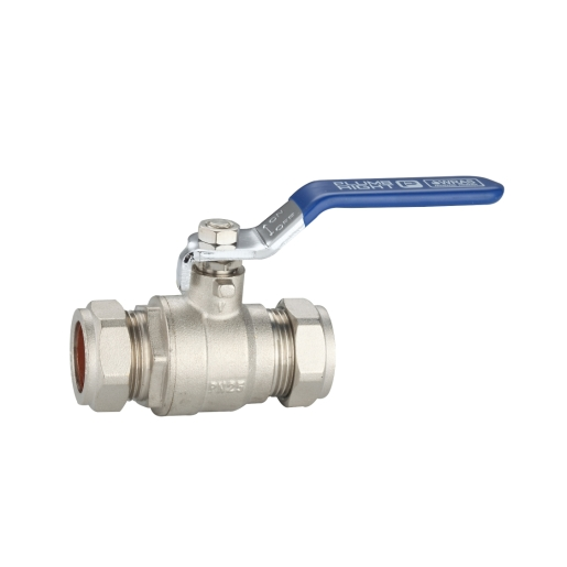 Plumbright Blue Handle Lever Ball Valve - 22mm