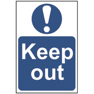 Spectrum Regular Size Keep Out Sign
