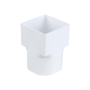 Osma SquareLine 4T836 Drain Adaptor Square To Round 61mm White