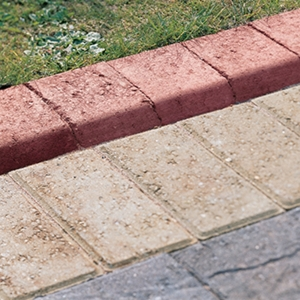 Marshalls Keykerb Large Bullnosed Brindle Kerb Pack 200mm x 100mm x 127mm
