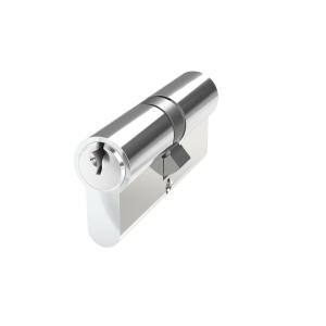 Mila Prolinea 6 Pin Double Euro Cylinder 45/45 Polished Chrome
