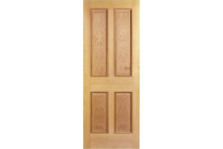 Internal 4 Panel Oak Raised Mouldings Door 1981 mm x 762 mm x 35 mm
