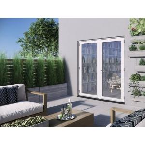 JELD-WEN Bedgebury Hardwood French Doors White Finish - 6ft