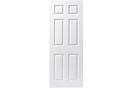 Interior Moulded 6 Panel White Smooth FD30 Fire Door 2040mm x 826mm x 44 mm