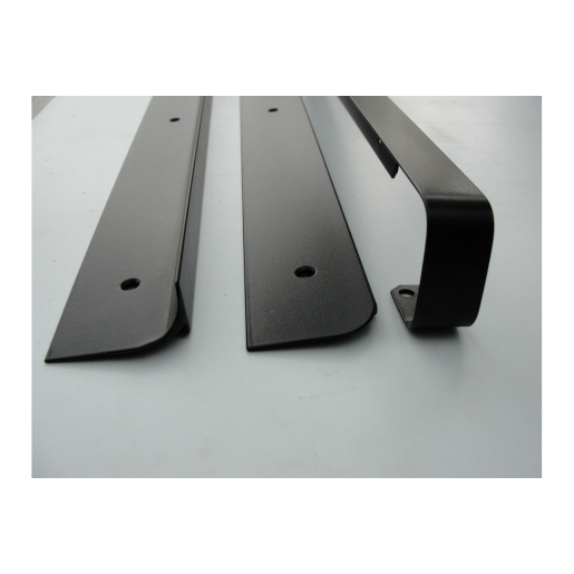 Unika 40mm Black Worktop Aluminium End Trim 630mm/6mm Radius