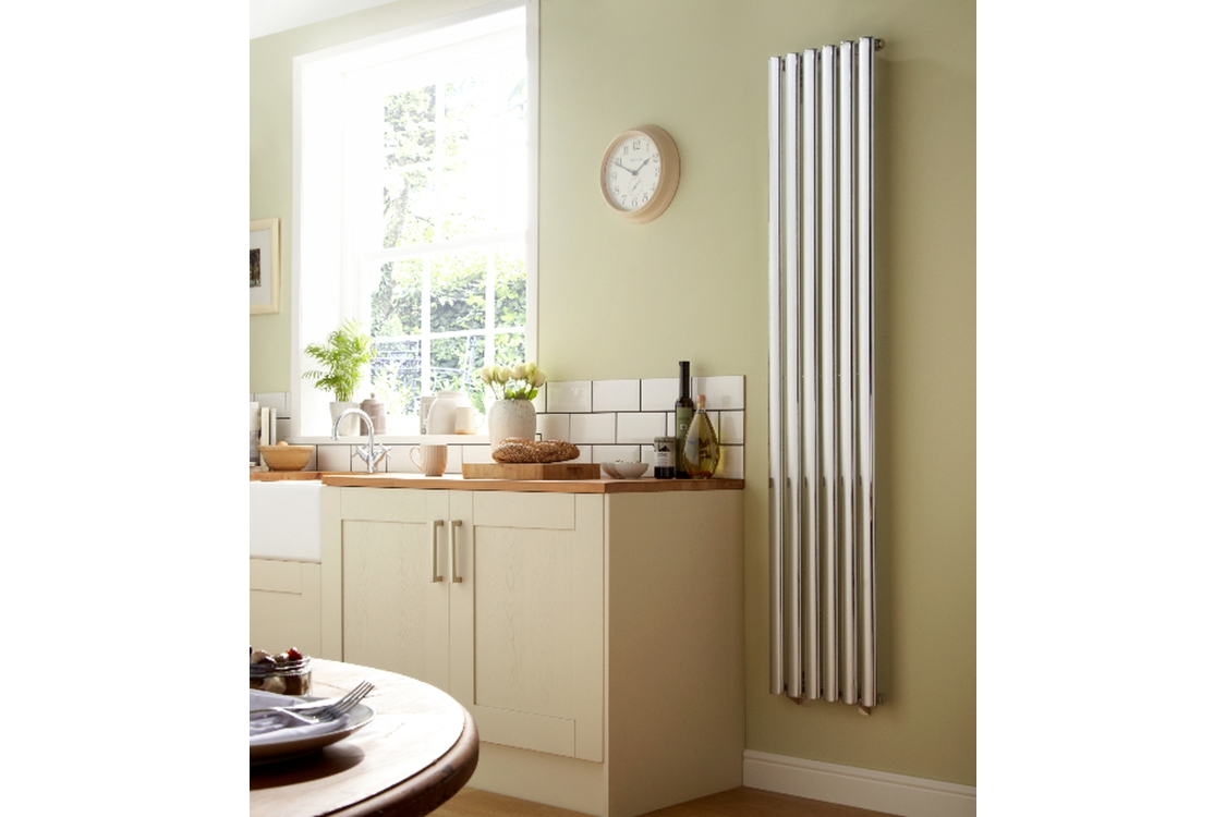 Dorney Vertical Chrome Radiator 1800mm x 472mm