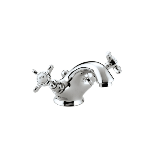 Bristan 1901 Mono Basin Mixer Tap Chrome with Pop-up Waste - N Bas C Cd