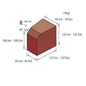 Marshalls Keykerb Small Splayed Radial External Brindle PV7551760
