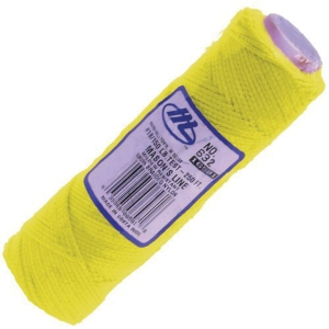 Marshalltown Fluorescent Yellow Hi-viz Braided Nylon Masons Line 250ft